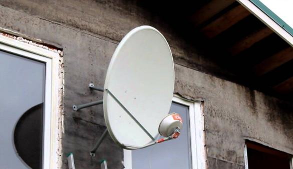 Переделанная спутниковая антенна