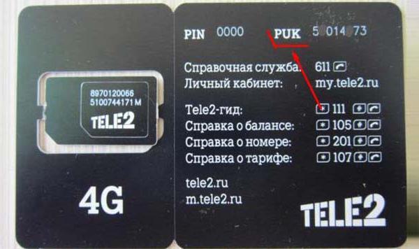 Puk-код сим-карты